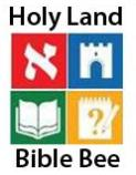 Holy Land Bible Bee