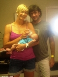 Angie, Bubba and baby Caleb