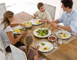 Eating dinner as a family