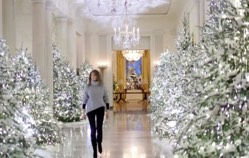 washington dclifesitenewscom a new video of the white houses christmas decorations shows a beautiful traditional nativity set with a baby jesus in a - Melania Christmas Decor