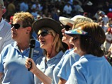 Singing at ballgame