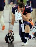 Tim Tebow giving thanks